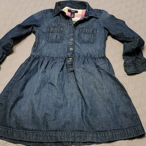 Gap jean button down long sleeve dress